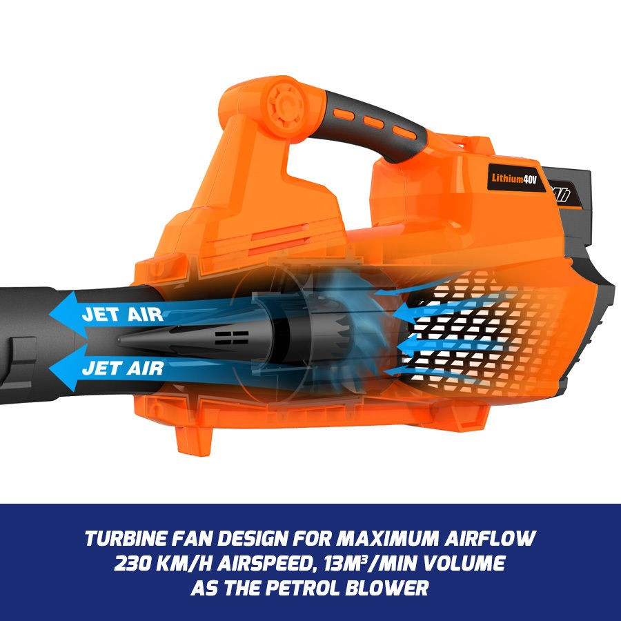 New RB-BL Redback 40V Cordless Blower with Turbo Boost feature  (Tool Only)