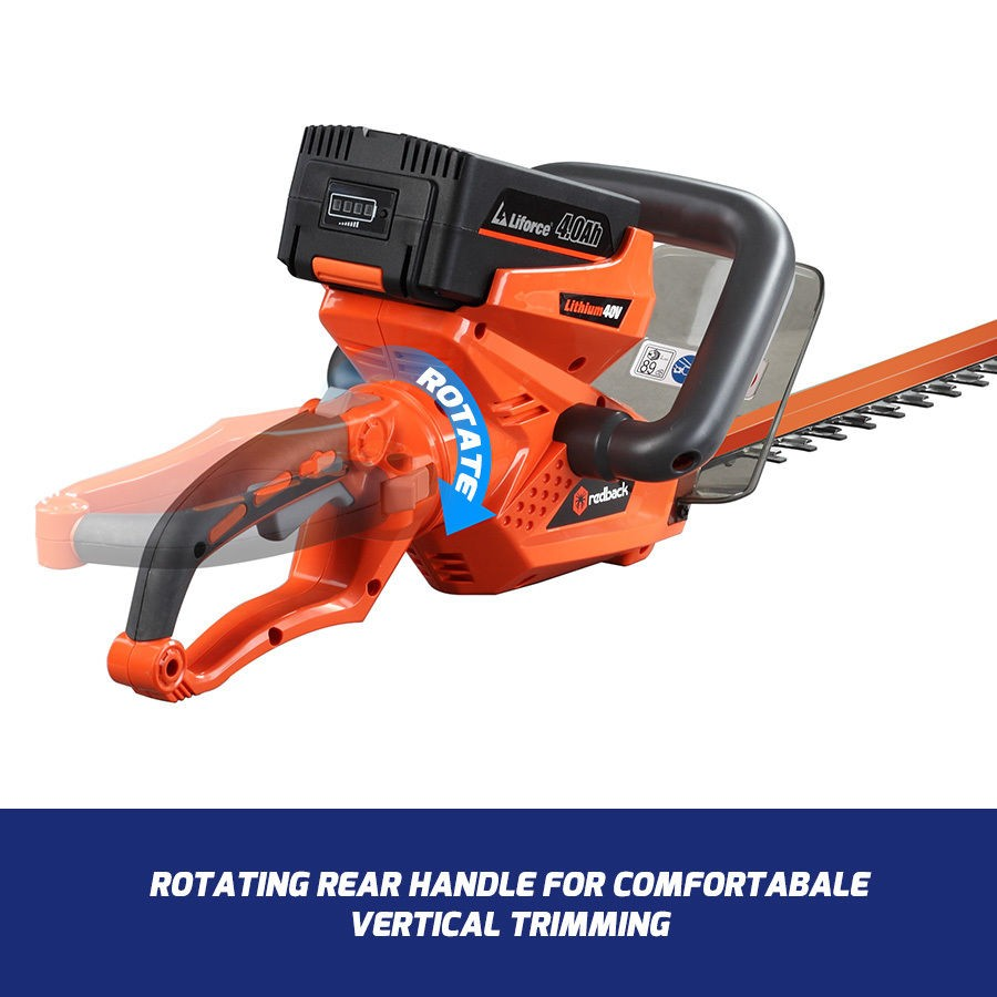 New RB-HT Redback 40V Cordless Hedgetrimmer with rear swivel handle  (Tool Only)