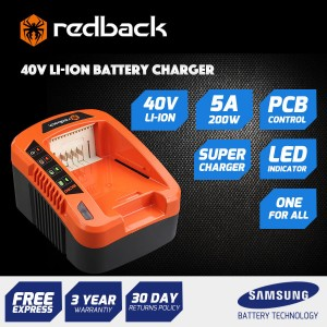New RB-CH5A Redback 40V Quick Charge Battery Charger - Suits any Redback Battery