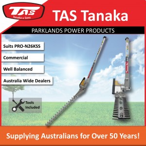 New TAS PRO-N26KSS 27cc Kawasaki Split Shaft Brushcutter - Hedgetrimmer Attachment - Trimmer